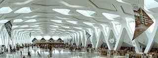 نمایی از فرودگاه محمد پنجم کازابلانکا