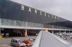 نمایی از فرودگاه بارسلونا اسپانیا