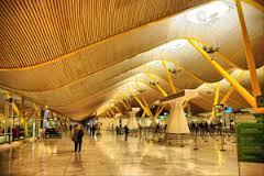 نمایی از فرودگاه مادرید اسپانیا