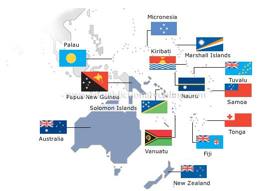 قیمت و مدارک و شرایط اخذ ویزا کشورهای اقیانوسیه
