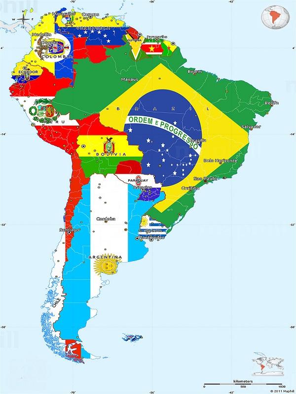 رزرو و خرید بلیط هواپیما به تمام کشورهای قاره آمریکای جنوبی