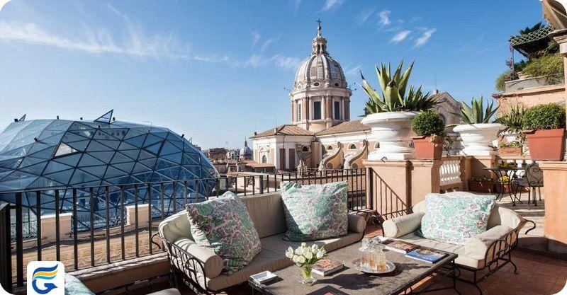 هتل گرند پلازا رم - بهترین هتل های رم در مرکز شهر