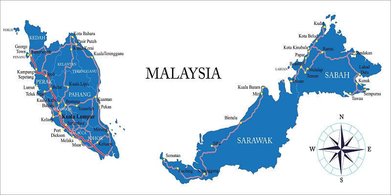 قیمت و رزرو و خرید بلیط پروازهای داخلی مالزی