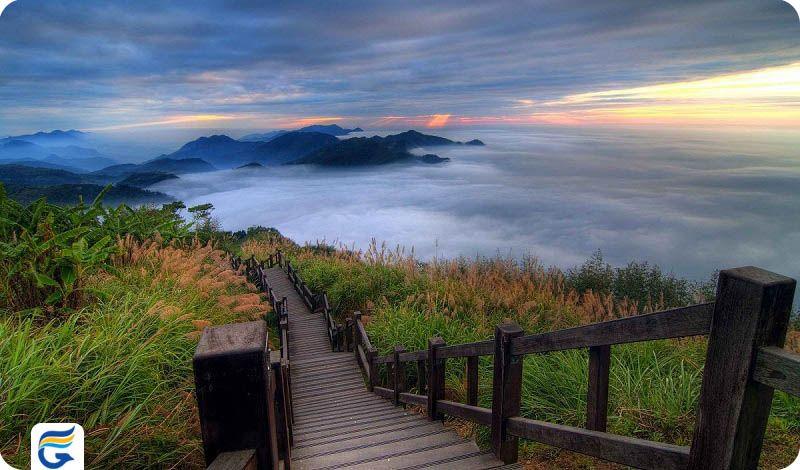 منطقه منظره ملی آلیشان تایوان Alishan National Scenic Area- قیمت بلیط رفت و برگشت تایوان
