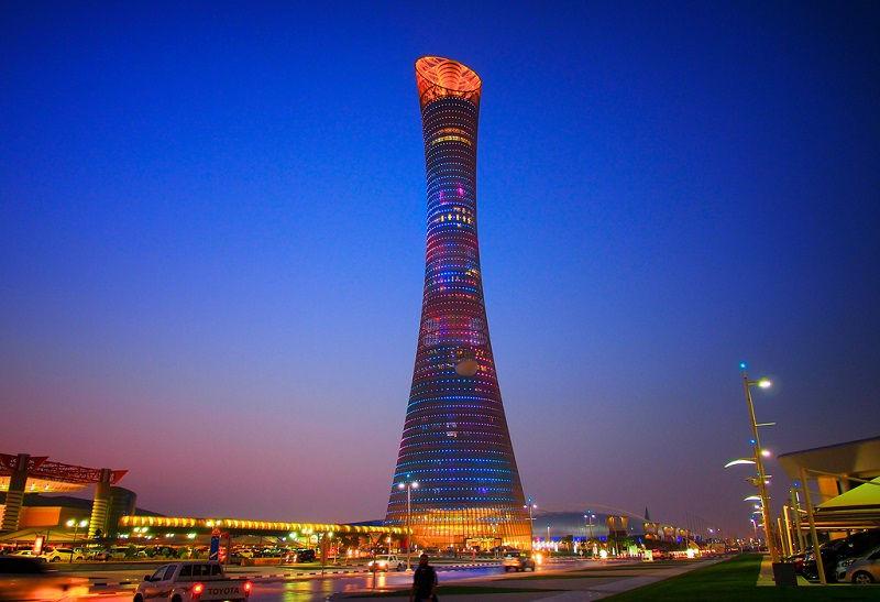 برج اسپایر و نرخ پروازهای قطر