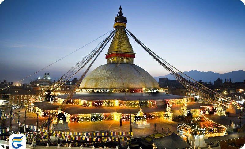 بلیط چارتر نپال - معبد بودا نپال Boudha Stupa