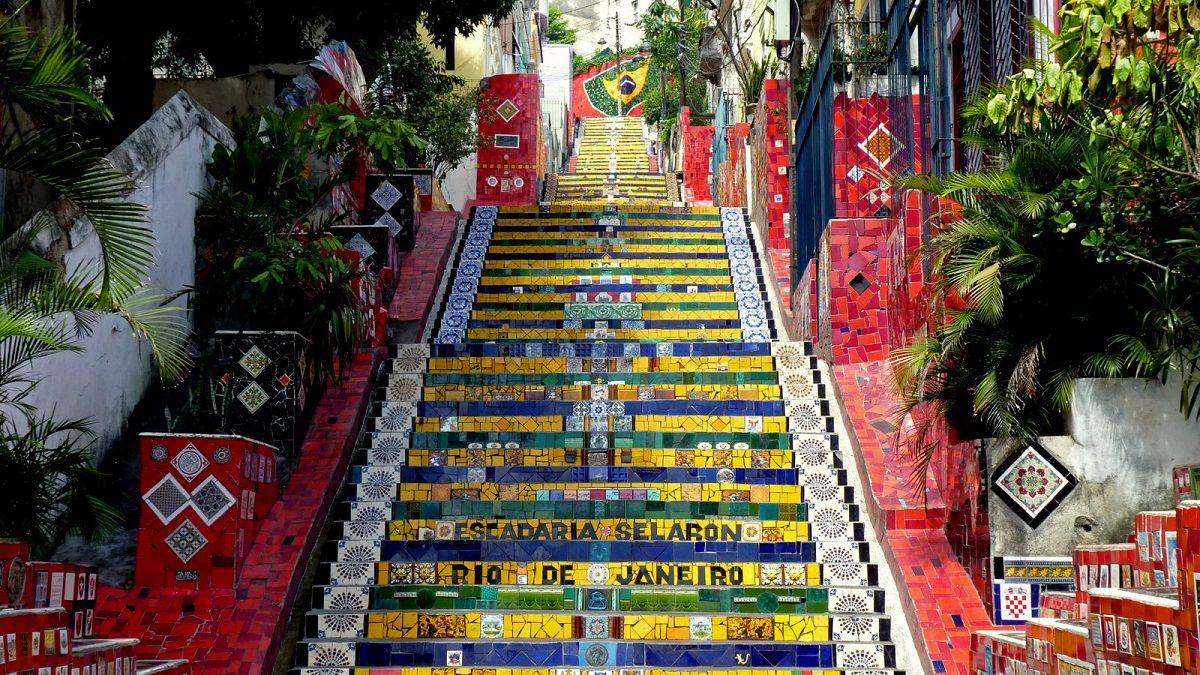 اسکندریا سلارون برزیل Escadaria Selarón- خرید اینترنتی بلیط هواپیما به برزیل
