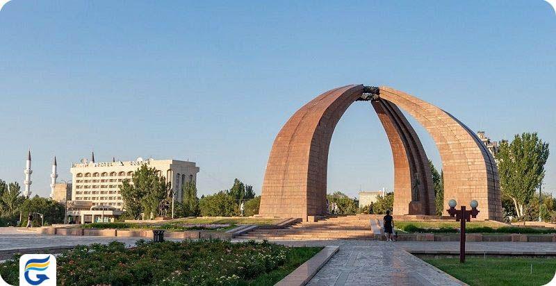 میدان پیروزی قرقیزستان قرقیزستان Kyrgyzstan Victory Square - هزینه سفر هوایی به قرقیزستان