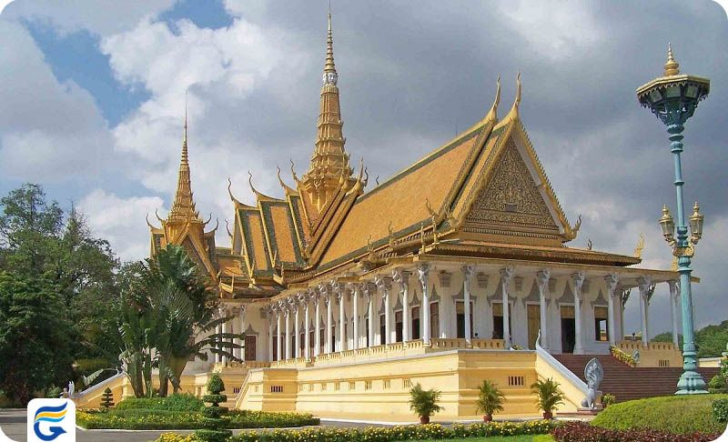 کاخ سلطنتی کامبوج Royal palace - رزرو اینترنتی پروازهای کامبوج