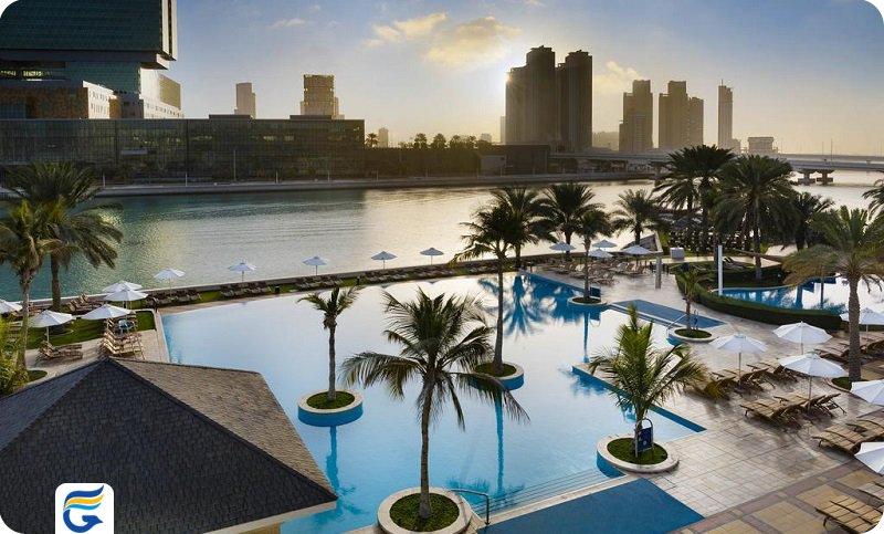هتل بیچ روتانا ابوظبی Beach Rotana hotel - هتل نزدیک به فرودگاه ابوظبی - اجازه آپارتمان در ابوظبی