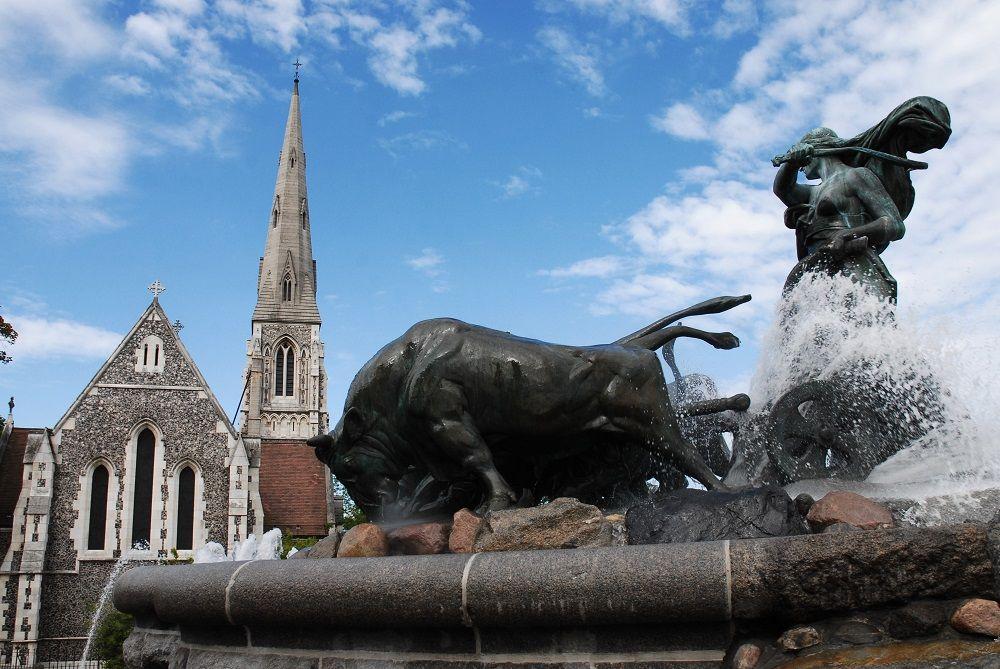 آبنما گفیون دانمارک Gefion Fountain - نرخ بلیط رفت و برگشت دانمارک