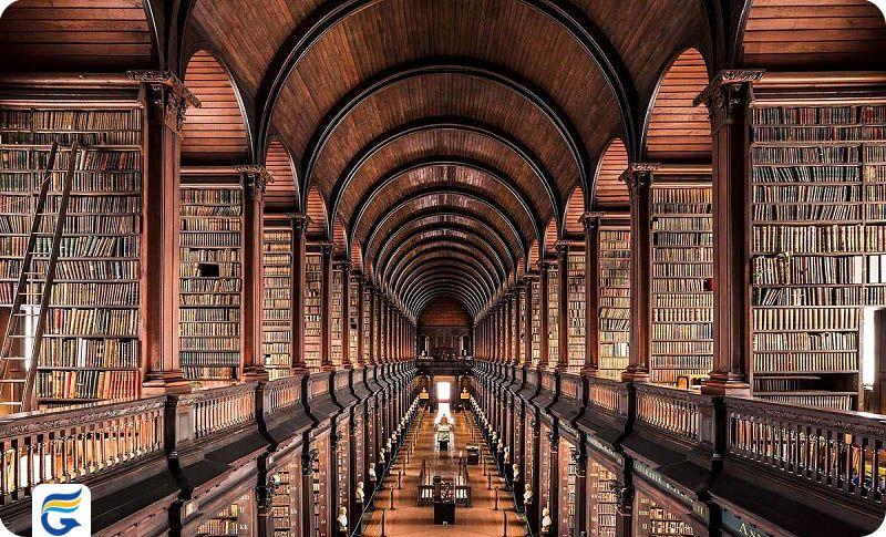 رزرو بلیط ایرلند برای سفارت - کتابخانه کالج ترینیتی ایرلند Trinity College Library