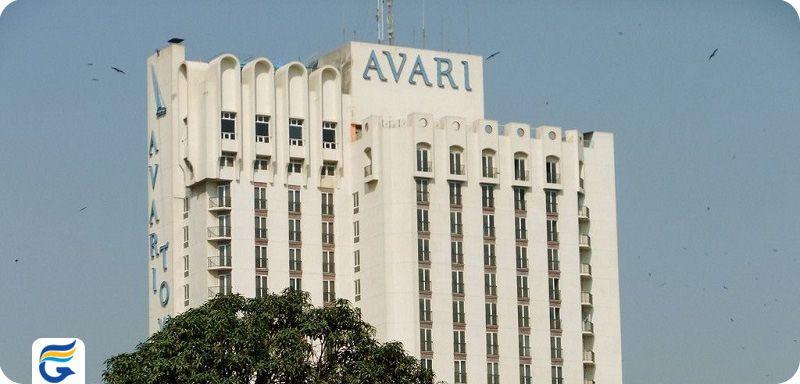 هتل برج های آواری کراچی - لیست قیمت هتل های 5 ستاره کراچی