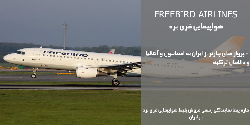 نمایندگی رسمی فروش بلیط هواپیمایی فری برد Freebird Airlines