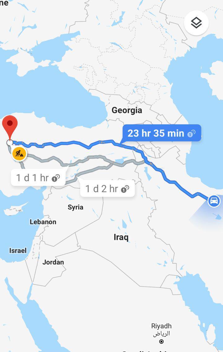 مسافت زمینی از تهران به آنکارا و مدت زمان سفر زمینی از تهران به آنکارا ترکیه و مسیر حرکت اتوبوس از تهران به آنکارا