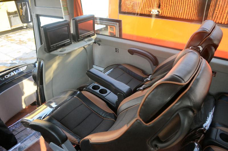 صندلی های اتوبوس های وی ای پی مسیر گرجستان ایران