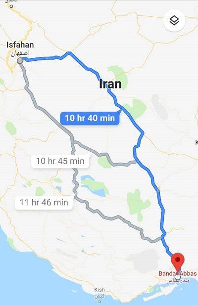 قیمت بلیط اتوبوس اصفهان بندرعباس