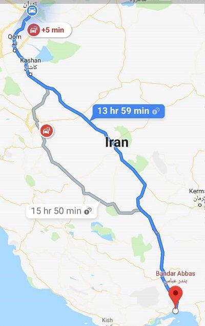 بلیط اتوبوس بندرعباس از تهران