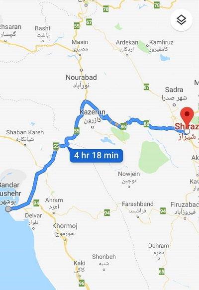 اتوبوس های شیراز از بوشهر