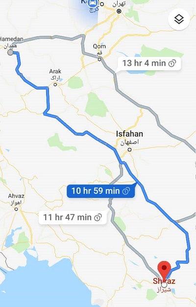 ارزانترین نرخ بلیط اتوبوس همدان شیراز