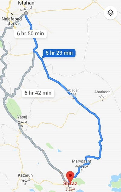 قیمت اتوبوس اصفهان شیراز