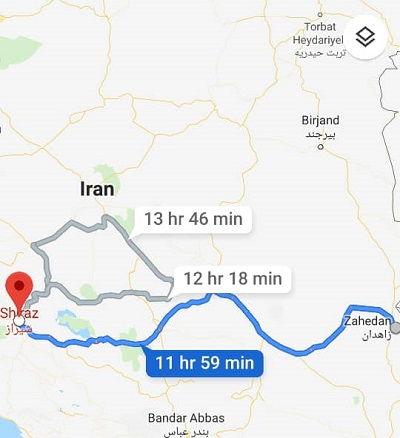 هزینه بلیط اتوبوس راهدان شیراز