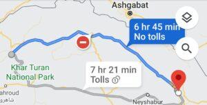 هزینه سفر زمینی با اتوبوس از مشهد تا آزاد شهر گلستان و آزاد شهر تا مشهد رفت و برگشت و یک طرفه