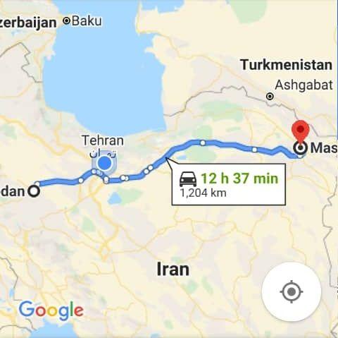رزرو بلیط اتوبوس مشهد تا همدان و و همدان به مشهد