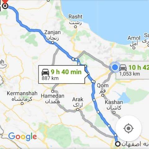 قیمت بلیط اتوبوس اصفهان تبریز