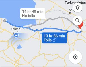 هزینه سفر زمینی با اتوبوس از مشهد تا لاهیجان و لاهیجان تا مشهد رفت و برگشت و یک طرفه
