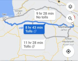 خرید اینترنتی اتوبوس مشهد به ساری و ساری به مشهد