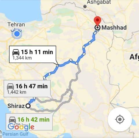 بلیط اتویوس رفت و برگشت مشهد به شیراز با ارزانترین قیمت