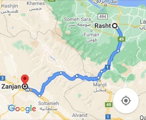 نرخ بلیط اتوبوس رشت زنجان و مبلغ بلیط اتوبوس زنجان رشت