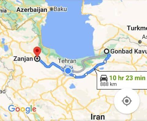 رزرو بلیط اتوبوس زنجان تا گنبد کاووس و و گنبد کاووس به زنجان