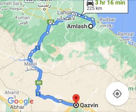 هزینه سفر زمینی با اتوبوس از قزوین تا املش و املش تا قزوین رفت و برگشت و یک طرفه