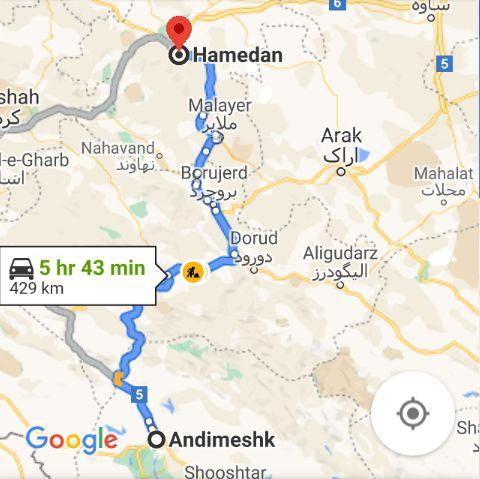 ساعت حرکت اتوبوس های اندیمشکبه همدان و قیمت بلیط اتوبوس به همدان: