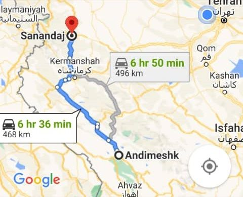 بلیط اتوبوس رفت و برگشت اندیمشک به سنندج با ارزانترین قیمت