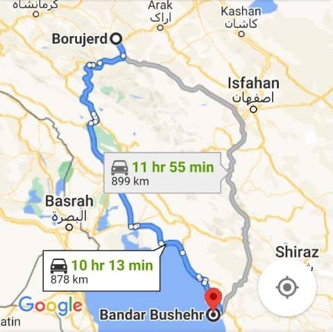 بلیط اتوبوس رفت و برگشت بروجرد به بوشهر با ارزانترین قیمت