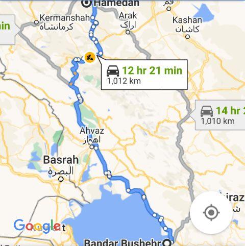رزرو بلیط اتوبوس همدان تا بوشهر و و بوشهر به همدان
