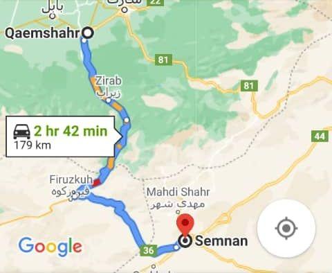 بلیط ارزان قیمت اتوبوس سمنان به قائم شهر و قائم شهر به سمنان