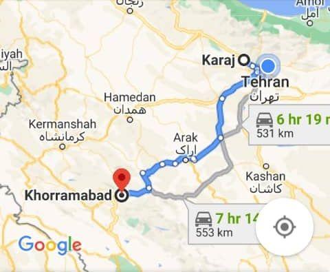 خرید اینترنتی اتوبوس کرج به خرم آباد و خرم آبادبه کرج