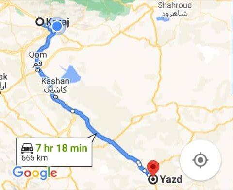 خرید اینترنتی اتوبوس کرج به یزد و یزدبه کرج