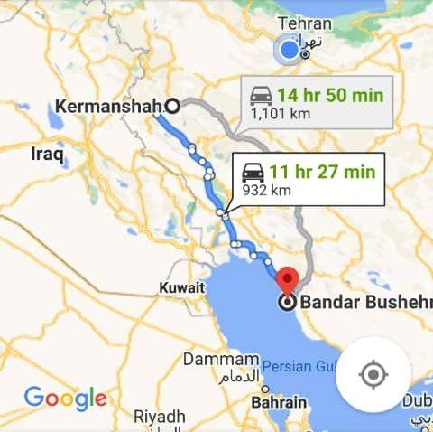 بلیط اتوبوس رفت و برگشت کرمانشاه به بوشهر با ارزانترین قیمت
