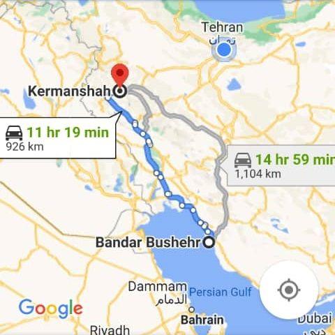 بلیط اتویوس رفت و برگشت کرمانشاه به بوشهر با ارزانترین قیمت