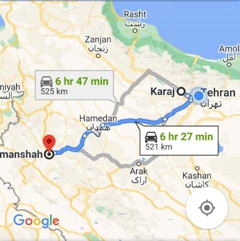 نرخ بلیط اتوبوس کرج کرمانشاه و کرمانشاه تا کرج