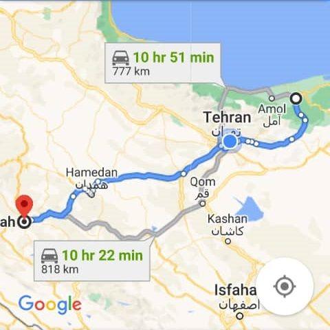 نرخ بلیط اتوبوس قائم شهر کرمانشاه و مبلغ بلیط اتوبوس کرمانشاه قائم شهر