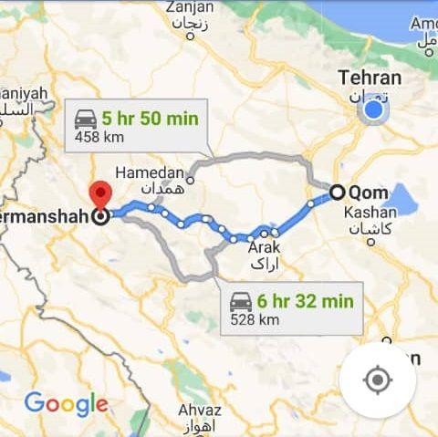 نرخ بلیط اتوبوس ارزان کرمانشاه از قم و هزینه و مبلغ بلیط اتوبوس های کرمانشاه به قم