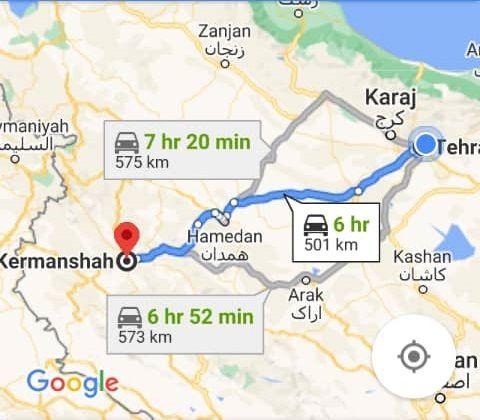 هزینه بلیط اتوبوس تهران کرمانشاه و کرمانشاه به تهران
