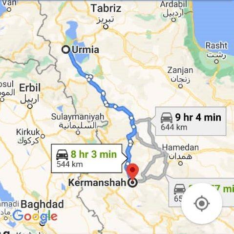 نرخ بلیط اتوبوس ارزان کرمانشاه از ارومیه و هزینه و مبلغ بلیط اتوبوس های کرمانشاه به ارومیه