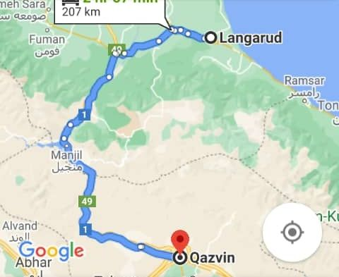 رزرو بلیط اتوبوس قزوین تا لنگرود و و لنگرود به قزوین